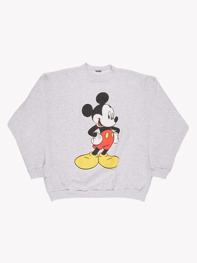 Disney Mickey Mouse Sweatshirt Grey/Black/Red/Yellow Size XL