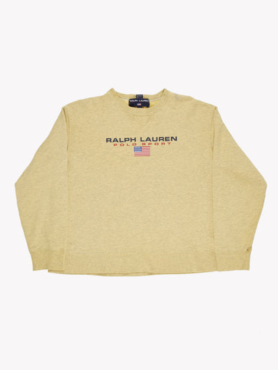 Ralph Lauren Overdyed Sweatshirt Yellow Size Medium