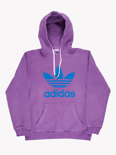 Adidas Overdyed Hoodie Purple/Blue Size Medium