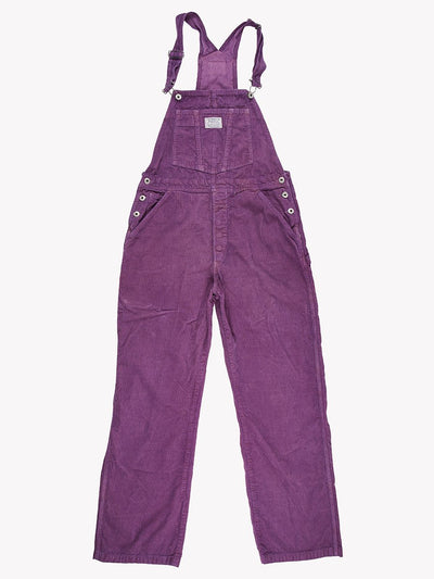 Levi's Overdyed Cord Dungarees Purple Size 32 x 30