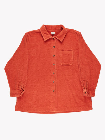 Jumbo Cord Shirt Orange Size XL