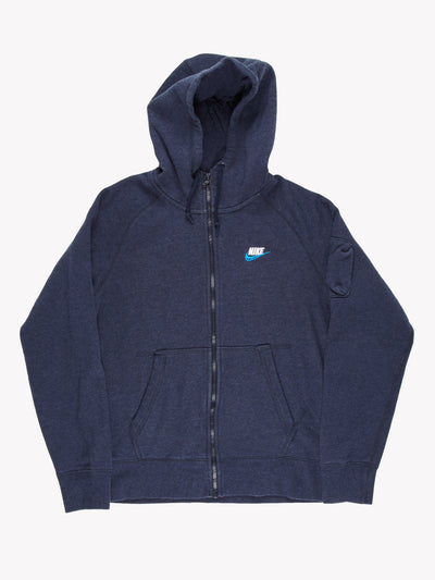 Nike Zip Up Hoodie Blue Size Medium