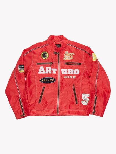 Vintage Racing Jacket Red Size Large