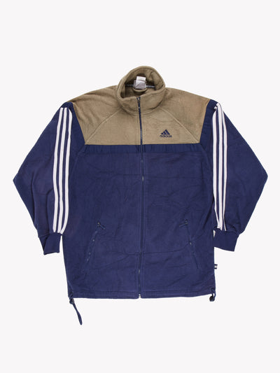 Adidas Fleece Blue/Khaki Size Small