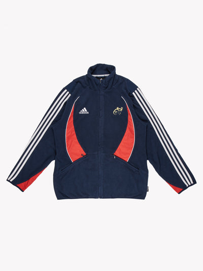 Adidas Sports Fleece Navy/Red/White Size Medium