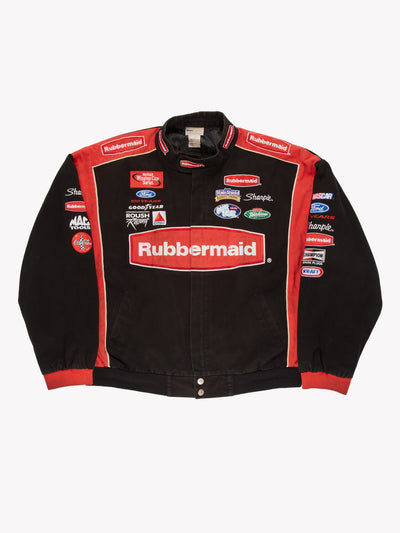 Nascar Rubbermaid Racing Jacket Black/Red Size XXL