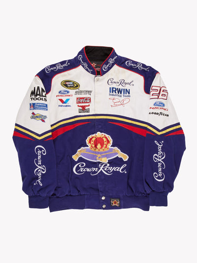 Nascar Crown Royal Racing Jacket Purple/White Size Large
