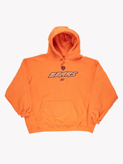 Reebok Chicago Bears NFL Hoodie Orange Size XXL
