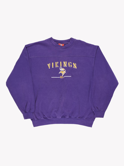 Minnesota Vikings NFL Sweatshirt Purple/Yellow Size Large