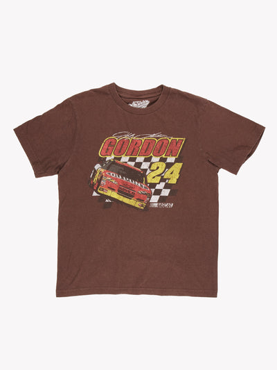 Nascar Gordon T-Shirt Brown/Yellow/Red Size Medium