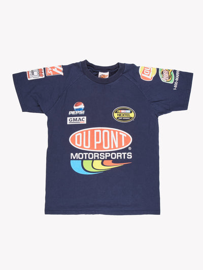 Nascar Du Pont T-Shirt Navy/Red/Yellow Size Medium