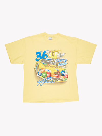 Nascar M&M's T-Shirt Yellow/Blue Size XL