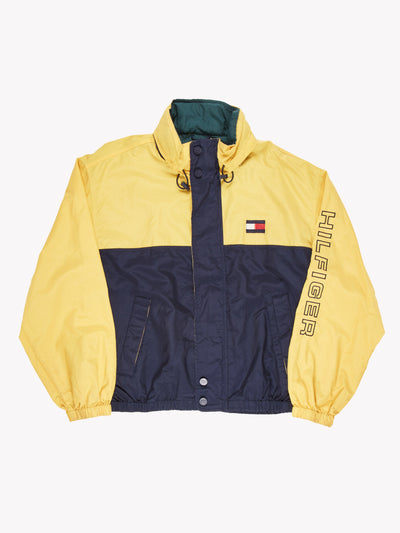 Tommy Hilfiger Windbreaker Jacket Yellow/Navy Size XXL