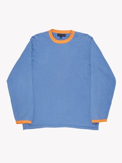 Tommy Hilfiger Jumper Blue/Orange Size Large