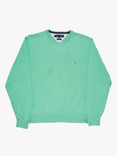 Tommy Hilfiger Knitted Jumper Green Size XL