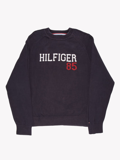 Tommy Hilfiger Knitted Jumper Navy/White/Red Size XL