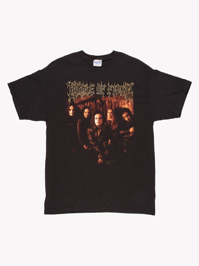 Cradle of Filth Band T-Shirt Black/Orange Size Large