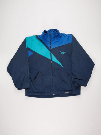 Reebok Sports Jacket Blue/Navy/Green Size XL