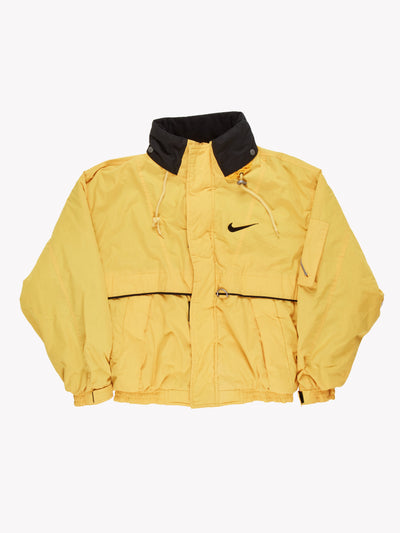 Swoosh by Nike Padded Jacket Yellow/Black Size Large