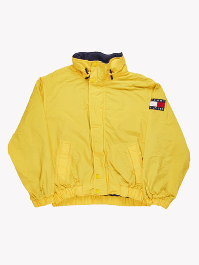 Tommy Hilfiger Padded Coat with Fleece Lining Yellow/Navy/Red Size XXL