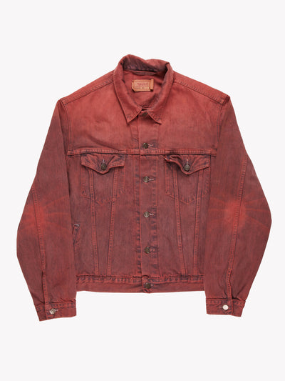 Levi's Overdyed Denim Jacket Pink Size XL