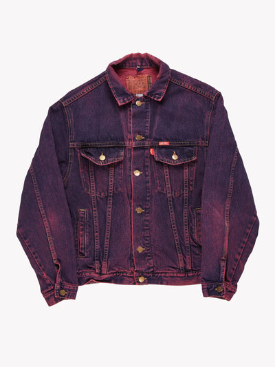 Diesel Overdyed Denim Jacket Purple/Pink Size Medium