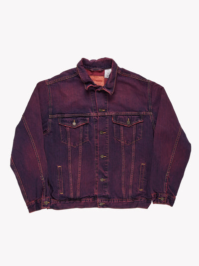Levi's Overdyed Denim Jacket Purple Size Small