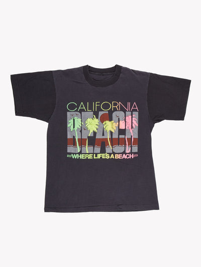 Vintage California T-Shirt Black/Yellow/Pink Size