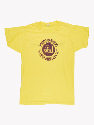 Vintage 'Winners For Minnesota' T-Shirt Yellow/Purple Size Large