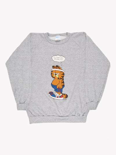 1980 Garfield Sweatshirt Grey/Orange/Blue Size Large