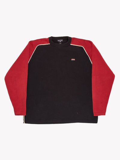 Ralph Lauren Knit Jumper Black/Red/White Size Large