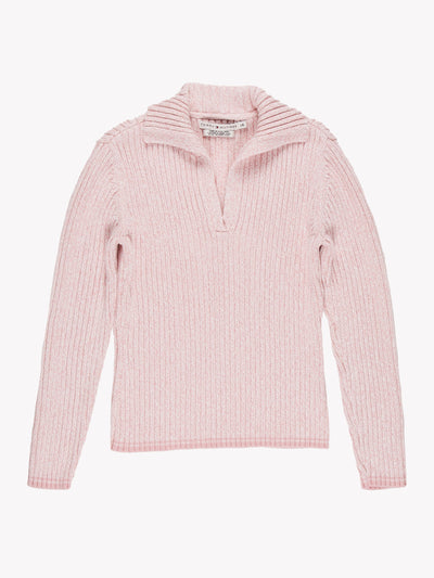 Tommy Hilfiger V Neck Knit Pink Size Small