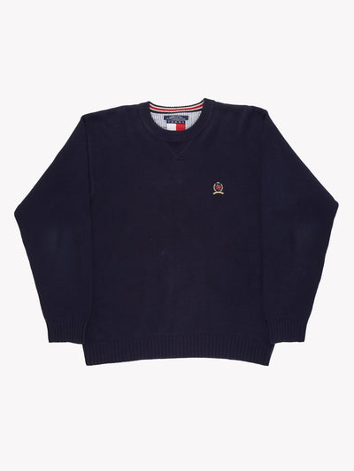Tommy Hilfiger Knitted Jumper Navy/Red Size Large