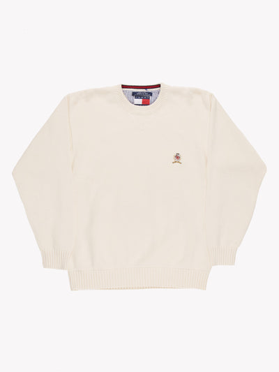 Tommy Hilfiger Knitted Jumper White Size Large