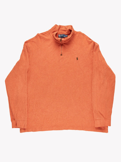 Ralph Lauren Quarter Zip Jumper Orange Size XXL