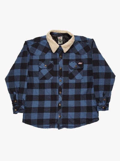 Dickies Check Shacket Blue/Black Size XL