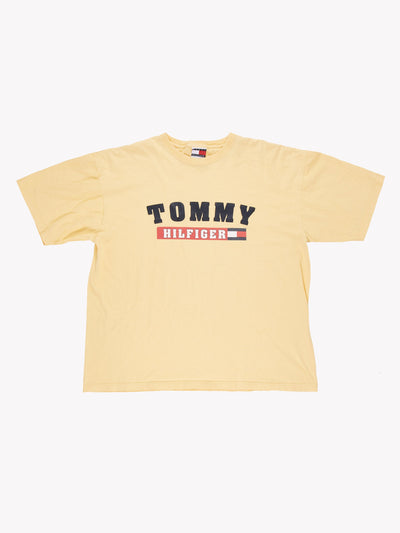 Tommy Hilfiger T-Shirt Yellow/Red/Navy Size XL
