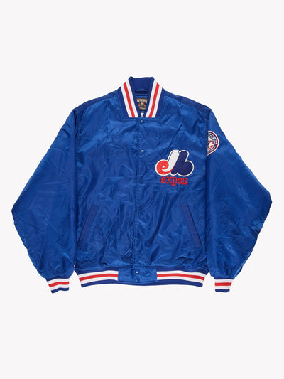 MLB Expos All Star Game Jacket Blue/Red Size XL