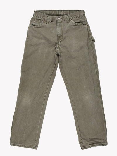 Dickies Cargo Style Trousers Green Size 30x30