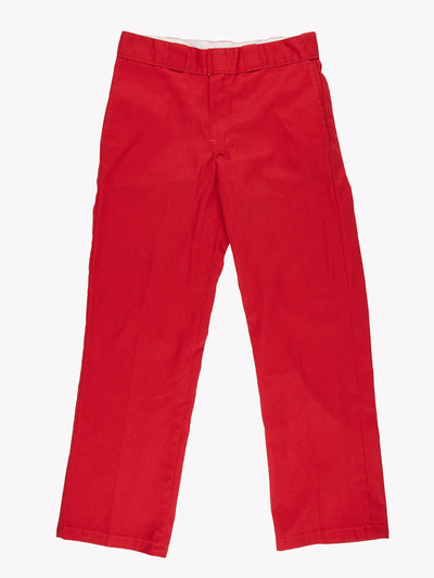 Dickies 874 Original Fit Trousers Red Size
