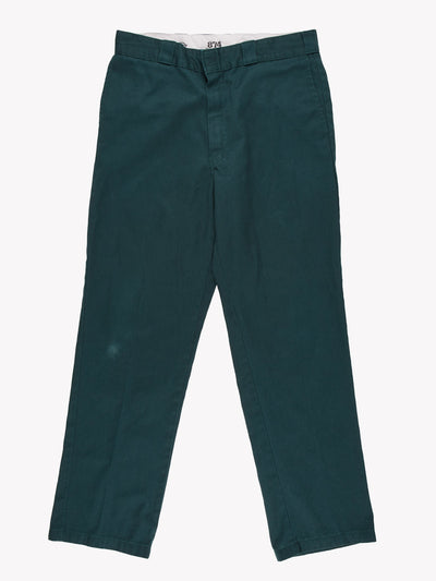 Dickies 874 Original Fit Trousers Green Size 34x33