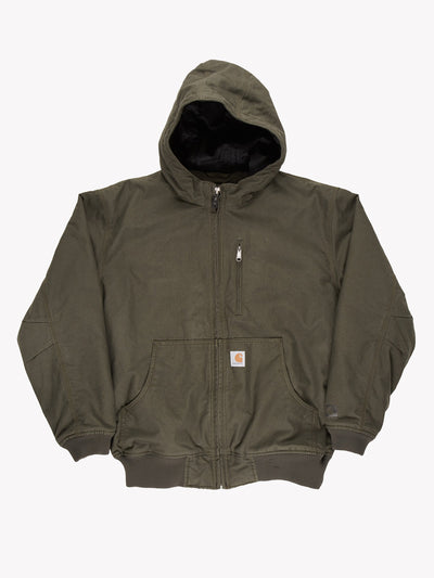 Carhartt Hooded Jacket Green Size Large