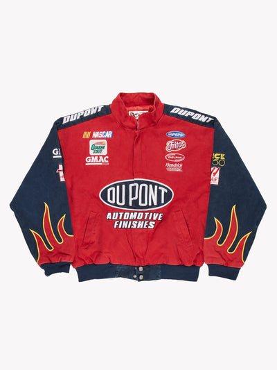Nascar Du Pont Racing Jacket Blue/Blue/White Size Medium