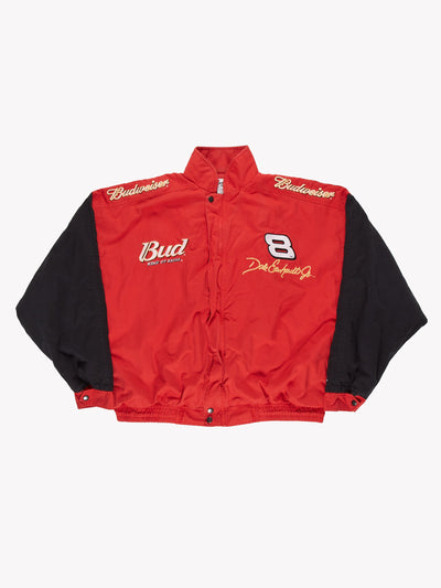 Nascar Dale Earnhardt Jnr Budweiser Racing Jacket Red/Black Size XXL