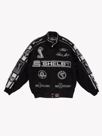 Nascar Shelby Racing Jacket Black Size Large