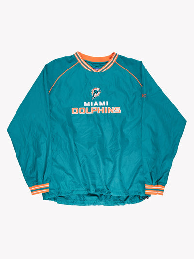 Reebok Miami Dolphins NFL Pullover Sports Jersey Green/Orange Size XL