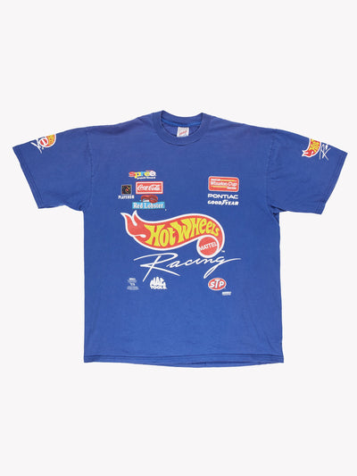 Nascar Hot Wheels T-Shirt Purple/Yellow/Red Size Large