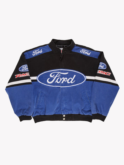 Nascar Ford Racing Jacket Blue/Black/White Size XL