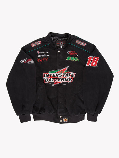 Nascar Interstate Batteries Jacket Black/Green/Red Size XL