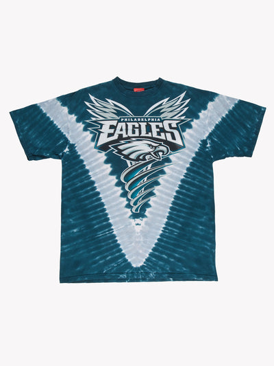 Philadelphia Eagles NFL Tie Dye T-Shirt Blue/White Size XL